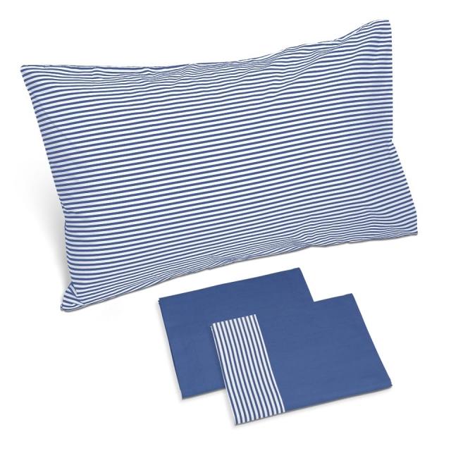 completo lenzuola riga blu china blu china