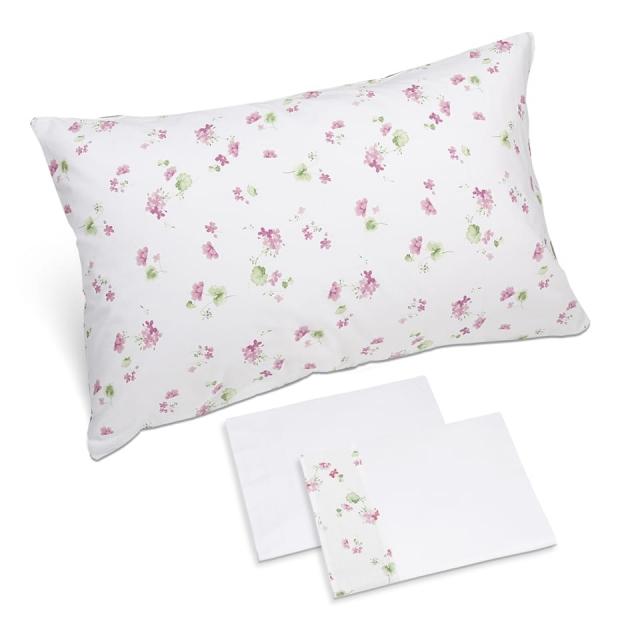 completo lenzuola fiorellino rosa bianco