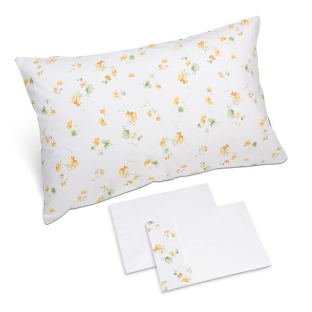 completo lenzuola fiorellino giallo bianco