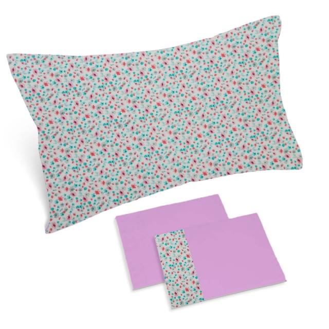 completo lenzuola glicine rose piccole
