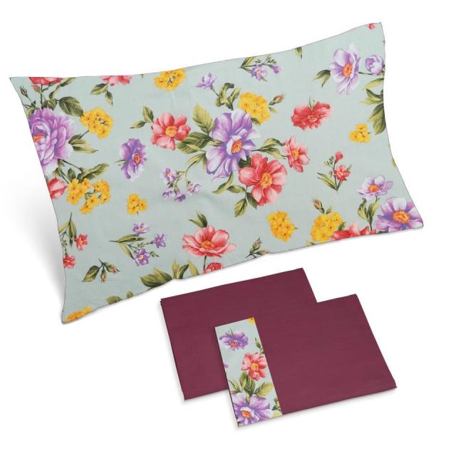 completo lenzuola ciliegia fiori colorati